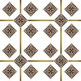 Irich 20 Stück Fliesensticker und 1 Rolle Klebefolie Sticker, PVC Wandtattoos, Badfliesen, Wasserdicht für Toilette Treppe Treppenstufen Bad Küche Wände Fliesen