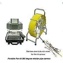 "GOWE 50mm Pan Tilt Rotación 360Degree HD DVR Caja de control Alcantarillado Pipe inspección cámara Robot con 60m cable y medidor contador dispositivo sensor de tamaño: 1/4""; horizontal Resolución: 600TVL; Sistema de señal: PAL"