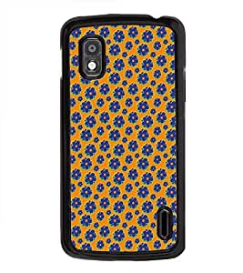 Vizagbeats Floral Pattern Back Case Cover for GOOGLE NEXUS 4