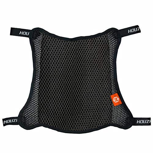 Seasaleshop Motorrad Sitzbank Bezug Anti Rutsch Universal, Motorrad Sitzbezug Atmungsaktives 3D Mesh Netz Kissen Atmungsaktiver Rutschfester Moped Kissenbezug.