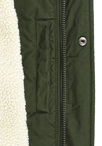 SOLID Darnell Herren Parka lange Winterjacke Mantel mit Teddy-Futter und Kapuze aus 100% Baumwolle Rosin (3400)