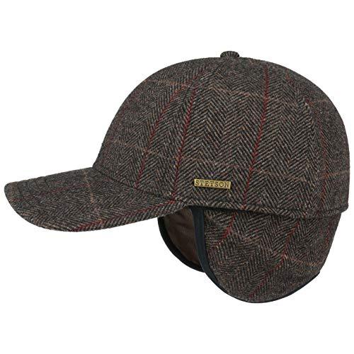 8cf07db84c55 Stetson Cappellino con Paraorecchie Kinty Uomo   Baseball cap Cappello  Invernale da Chiuso Dietro, Visiera