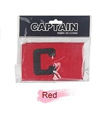 a-nam Capitanes Brazalete (Super Preciosity) para Junior y Senior elástico Fútbol capitán Brazalete para varios deportes como el fútbol y RUGBY y fútbol etc., color rojo, tamaño 35 * 7 cm