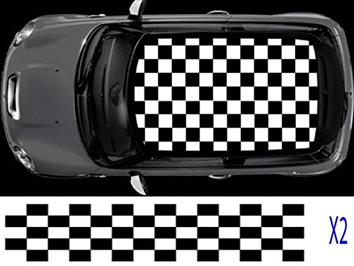 mini-chequered-flag-2-colour-roof-graphic-decal-cooper-paceman-s-one-coupe-bmw