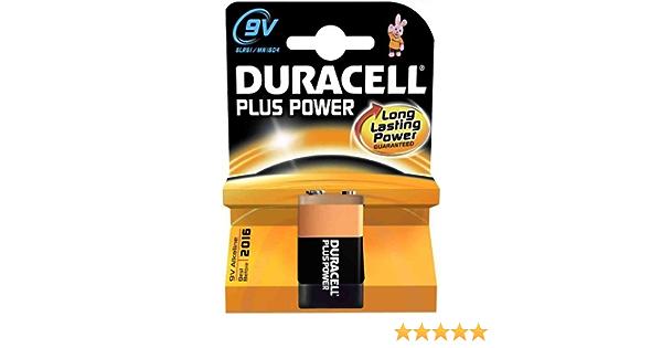 Duracell Alkaline Mn1604 6lr 61 9 V Batterie Größe 6 F22 Rx22 006p Pp3 9 V Duracell Plus Akku Elektronik