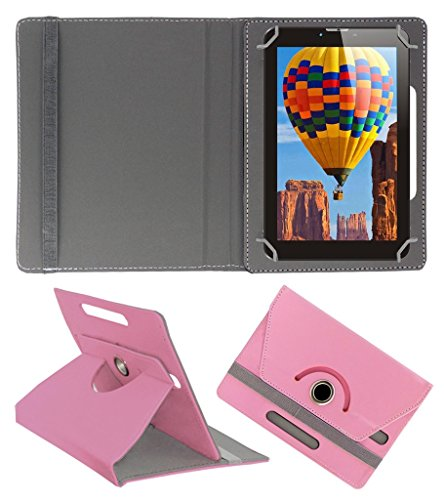 Acm Rotating 360° Leather Flip Case For Tescom Bolt 3g Tablet Cover Stand Light Pink  available at amazon for Rs.149