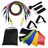 Taotuo Resistance Bands set 16pcs, Strength Fitness Exercise Resistance Tubes and Loop Bands for Workout and Physical Trapy, Fitness, Yoga, Pilates, Legs and Butt, for Men & Women