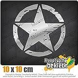 KIWISTAR United States Army Star 10 x 10 cm IN 15 FARBEN - Neon + Chrom! Sticker Aufkleber