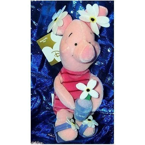 Disney's Piglet Flower Power 8 Plush Bean Bag by Disney by Disney -