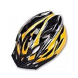 Hoovo Casco de Bicicleta con Ajustable Ligero Casco de Bicicleta de Montaña Racing breezier para Hombres y Mujeres (Amarillo)