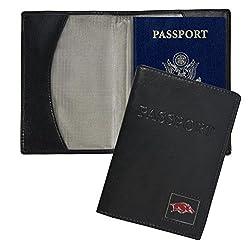 NCAA Arkansas Razorbacks Leather Passport Cover, 5.5 x 4