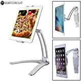 SortCircuit ST-667 Freestyle Tablet Stand | Tablet Mobile Wall Mount | Kitchen Office Professional Tablet Stand | Compatible with iPad, Samsung Galaxy, iPhone, Kindle Fire (White)