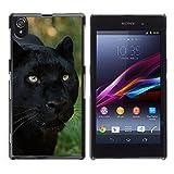 FJCases Panthère Animal Coque Étui Cache Housse de Protection Fine et Rigide pour Sony Xperia Z1
