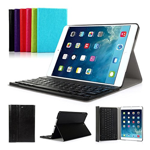 iPad Air 1(2013) iPad 2017 9.7'' CoastaCloud QWERTY Italiano Layout Ultrathin Custodia con Supporto e Tastiera Bluetooth staccabile per Apple iPad Air 1(A1474 A1475 A1476)iPad 2017(A1822,A1823)Nero