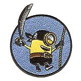 Aufnäher/Bügelbild - MINIONS 'STUART PIRAT' - blau - 6,5x8cm - by catch-the-patch Patch Aufbügler Applikationen zum aufbügeln Applikation Patches Flicken