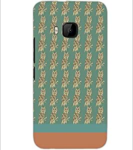PrintDhaba Owl pattern D-1874 Back Case Cover for HTC ONE M9 (Multi-Coloured)