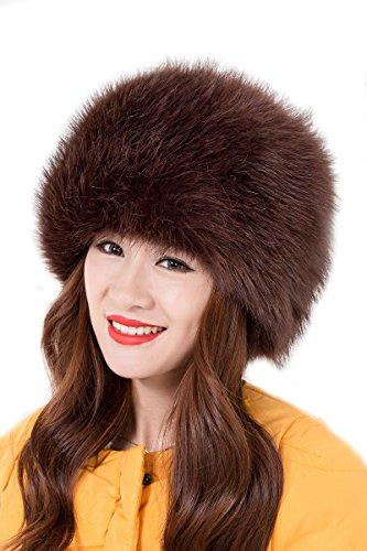 ux Fox Pelz Russischen Kosaken Hut(Kaffee) (Russische Faux Pelz Hut)
