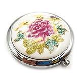 Specchio tascabile per donne per ragazze piccolo specchio tascabile Magnifying makeup Compack doppio specchio in ceramica cinese tradizionale design da viaggio con borsetta in porcellana