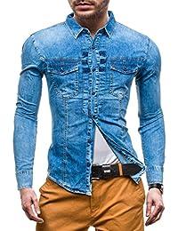 BOLF – Chemise casual – avec manches longues – Jeans – DENIM REPUBLIC 4405 – Homme