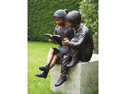 H. Packmor GmbH Sehr schöne Bronzefigur zwei lesender Kinder aus Bronze gefertigt