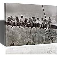 Quadro Operai New York Operai Trave Stampa su Tela 50x39cm
