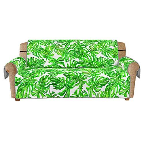 r ❤️️ Blatt Druck Rutschfeste Gesteppte Sofa Couch Abdeckung Stuhl Hund Kinder Mat Möbel Protector ()