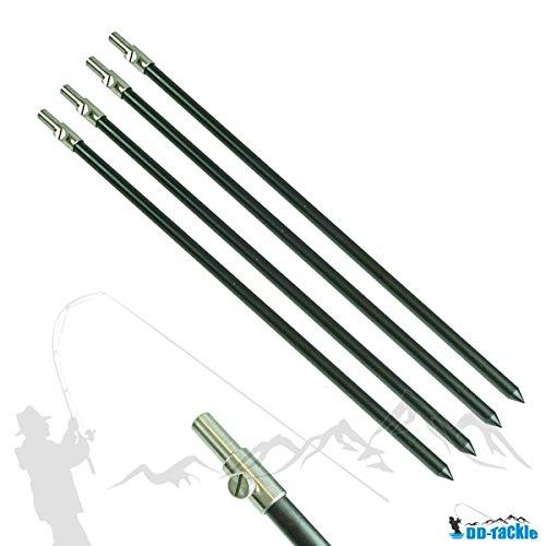 4 Stück Set Alu Bank Stick 50 - 90cm Bankstick Ruten Halter Ständer Rutenauflage Rod Pod Aluminium Rutenhalter Rutenständer Rod Pod tele teleskop -