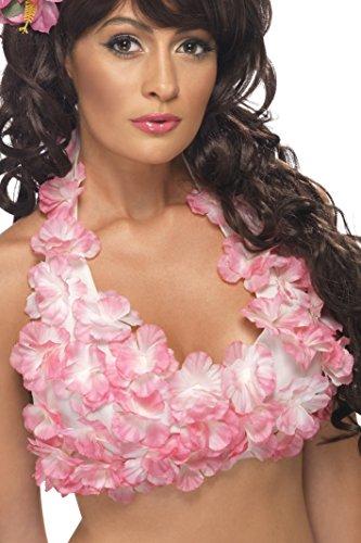 Smiffys, Damen Hawaiianisches Hula Oberteil, Neckholder, One Size, Rosa, 34018 (Hawaiian Dress Up Kostüme)