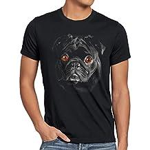 style3 Bronx T-Shirt Herren Hundegesicht Mops Hund