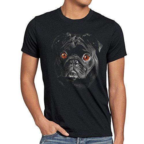 style3 Bronx T-Shirt Herren Hundegesicht Mops Hund, Größe:L