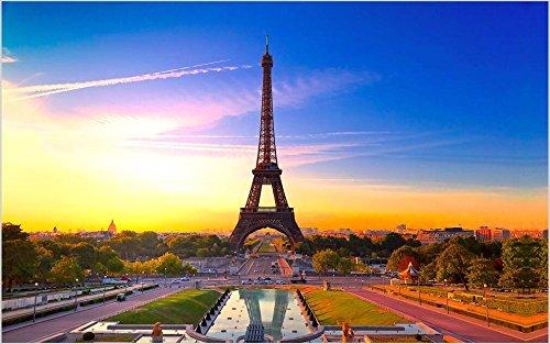 erte Wandbild 3D Tapete Paris Eiffelturm Dekorative Malerei-350cmx245cm ()