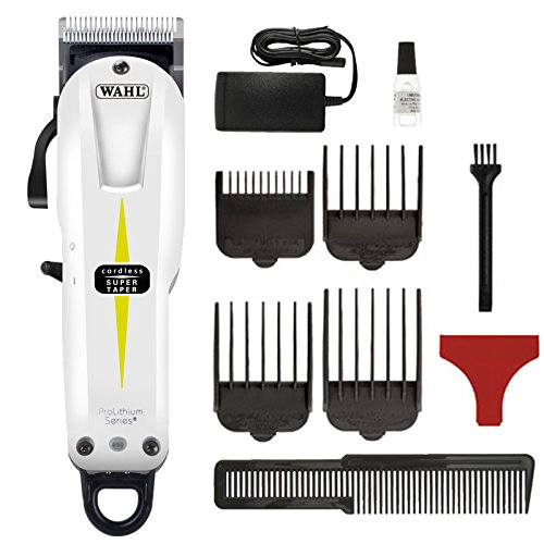 Wahl Prolithium Series - Maquina cortapelos, cuchillas cromadas, diseño sin cable, batería, blanco