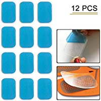 flyword Abs Replacement Pads,Electric Muscle Stimulation Training Gear and Fat Burning Massage Device Trainer Replacement Gel Sheet Accessories ems Gel Sheets For Gel Pad