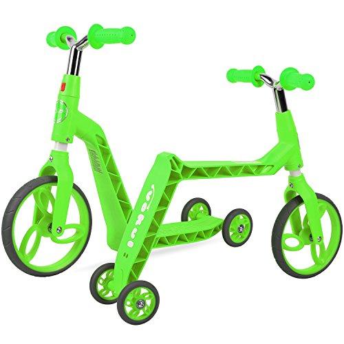Vokul Gh05 Bicicleta sin Pedales Patinetes para niños (Verde)