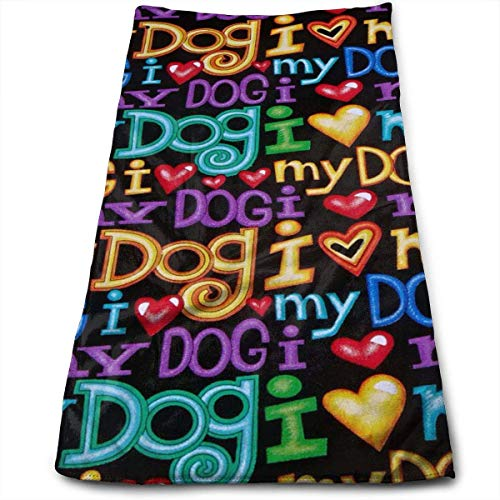 ERCGY Bart Dog Words Black Polyester Towels Ultra Soft & Absorbent Bathroom Towels - Great Shower Towels, Hotel Towels & Gym Towels