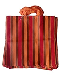 """PM Linnings Non Woven Shopping Bag (SIZE: 15"""" X 15""""-Inches) Orange & Red - 24 Pcs."""