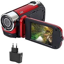 1080P Anti-Shake LED Caméra Numérique Enregistreur Vidéo Enregistreur Professionnel Timed Selfie Cadeaux Haute Définition Vision Nocturne - Rouge
