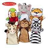 Melissa & Doug- Safari Friends Burattini Divertenti, Multicolore, 9118