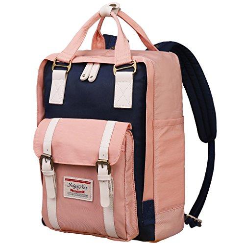 Schultasche Rucksack,Lässiger Backpack Wasserabweisend für Mädchen Jungen Teenager Jugendliche Nylon Daypack für Schule Arbeit Sport Campus Reisen Wandern Einkaufen Fitnessstudio mit Laptop Fach