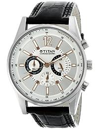 Titan Classique Chronograph Silver Dial Men's Watch -NK9322SL01