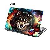 "TaylorHe Laptop Skin Pegatina de vinilo Adhesivo para portátiles 15,6"" 15"" (38cm x 25,5cm) Productos de Gran Bretaña lobo, colorido, cosmos"