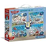 Clementoni 12021.5 - Where is it - Planes mit 4 Puzzle und Brettspiel