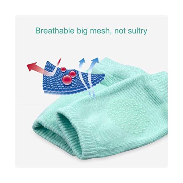 NATUCE 5 pares bebé gatear rodilleras antideslizantes,calentador de la pierna del bebé,protector de rodilla para bebé. 4