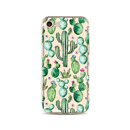 "CoqueiPhone 6S Etui Housse,BoomTeck Coque Pour 4.7"" Apple iPhone 6S/iPhone 6 Silicone Souple Transparente Motif Clear Ultra Mince Anti Choc Anti-rayures Gel TPU Etui Protection Bumper Case - Été Trop 15"
