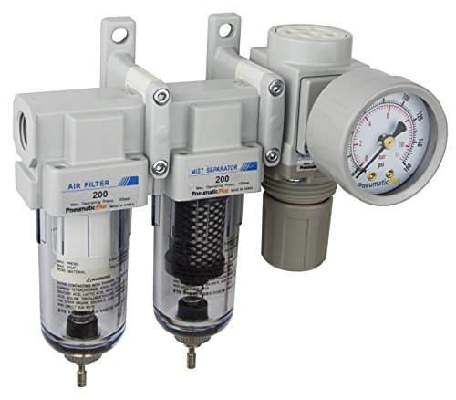 PneumaticPlus Sau230-02g mini sistema de tres etapas de secado al aire, 1/4