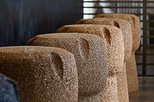 Greencorks collezione corkpouf sgabello comodo in sughero. altezza