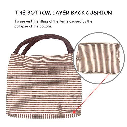 Borsa termica da picnic Cool bag lunch box bag picnic Tote Cooler Travel organizer–Puersit, Nylon, Black, 0.2*0.17 Brown