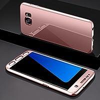 Ukayfe - Funda de espejo 360° para Samsung Galaxy S7 Edge, de plástico y vidrio templado, con protección integral delantera y trasera; diseño ultrafino, compatible con Samsung Galaxy S7 Edge