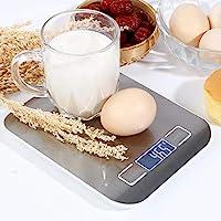 ميزان الطعام الرقمي Royal Polar لميزان المطبخ النحيف من الفولاذ المقاوم للصدأ متعدد الوظائف مع شاشة LCD وقياس التوهج، أربع وحدات من بطاريات تحويل القياس متضمنة- فضي