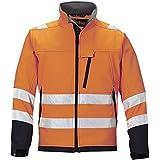Snickers HV Softshell Jacke Kl. 3 orange, Gr. L Regular